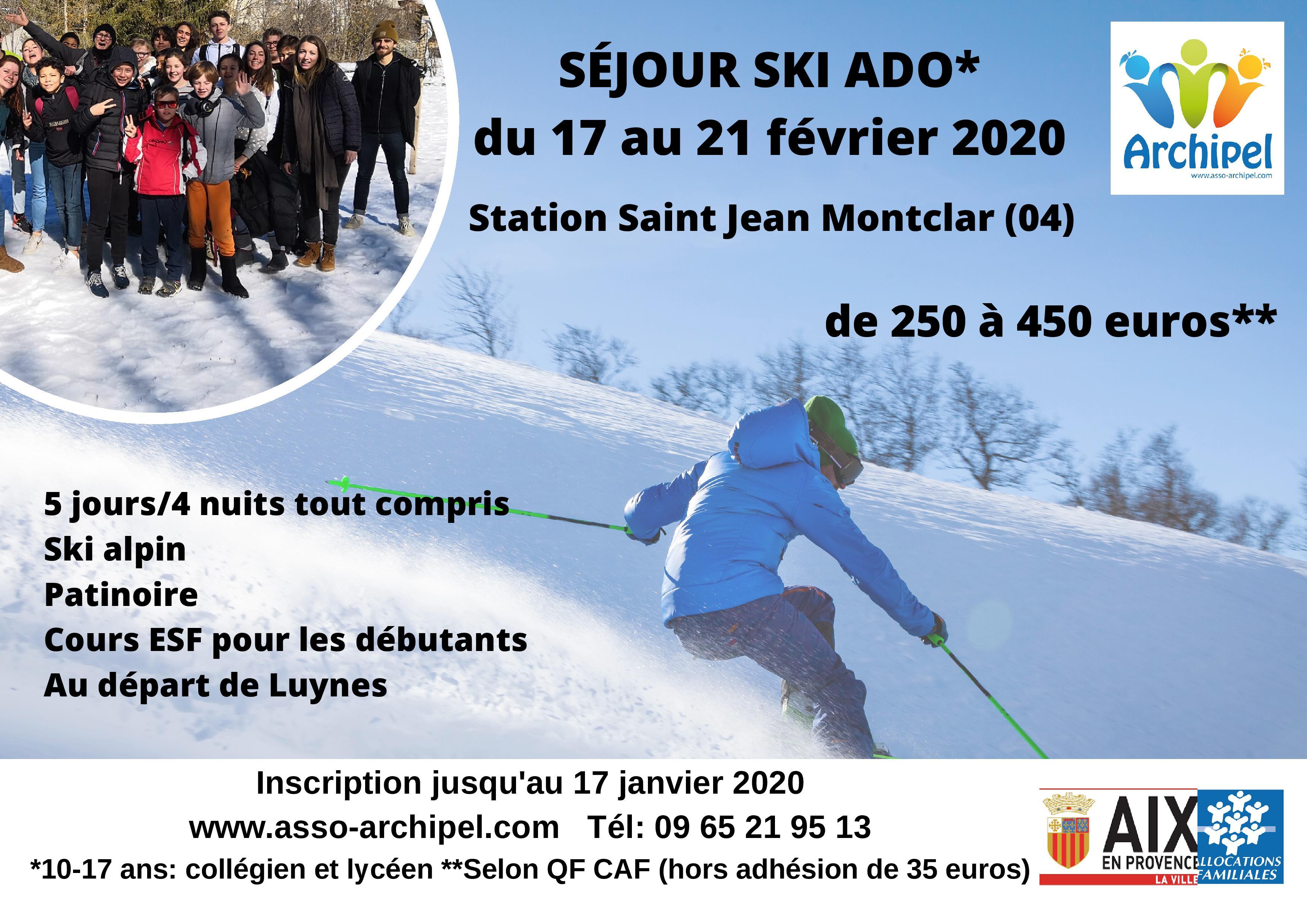 Séjour au ski Station Saint Jean Montclar